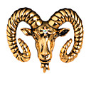 Χαμηλού Κόστους Κρεμαστά Κολιέ-Ανδρικά Κρυστάλλινο Καρφίτσες Κλασσικό Πρόβατο Δημιουργικό Ζώο Κλασσικό Βασικό Μοντέρνο Ροκ Μοντέρνα Καρφίτσα Κοσμήματα Ματ Μαύρο Χρυσό Ασημί Για Γάμου Πάρτι Καθημερινά Δρόμος Δουλειά