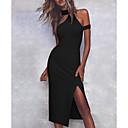 Χαμηλού Κόστους Σετ Κοσμημάτων-Γυναικεία Κομψό Θήκη Φόρεμα - Μονόχρωμο Μίντι Δένει στο Λαιμό