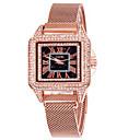 baratos Colares-Mulheres Relógios de aço Quartzo Estilo Clássico Aço Inoxidável Roxa / Ouro Rose Adorável Analógico Clássico Vintage - Ouro Rose Roxo