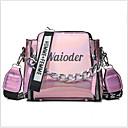 olcso Keresztpántos táskák-Női Cipzár / Lánc PU Táska Tömör szín Fekete / Arcpír rózsaszín / Ezüst