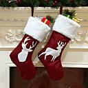 Χαμηλού Κόστους Συστήματα Καυσίμου-Καλσόν / Χριστούγεννα / Χριστουγεννιάτικα στολίδια Χριστούγεννα / Διακοπών / Οικογένεια Ύφασμα Κινούμενα σχέδια / Πάρτι / Πρωτότυπες Χριστούγεννα Διακόσμηση