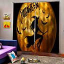 billiga Vuxenkostymer-blackout dammtät 100% polyester gardin fabrik direktpris 3d digtal utskrift gardiner färdiga lyckliga halloween tema bakgrund gardin