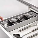 Χαμηλού Κόστους Ράφια & Στγρίγματα-κουζίνα συρτάρι διοργανωτής δίσκος κουτάλι μαχαιροπίρουνα χωρισμός φινίρισμα κουτί αποθήκευσης μαχαιροπήρουνα οργάνωση αποθήκευσης κουζίνας