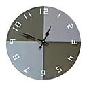 ราคาถูก นาฬิกาติดผนัง-สมัยใหม่ร่วมสมัย แฟชั่น ทำด้วยไม้ รอบ ในที่ร่ม