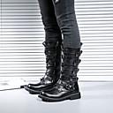 olcso Férfi csizmák-Férfi Fashion Boots PU Tavaszi nyár / Ősz & tél Vintage / Alkalmi Csizmák Csúszásmentes Magas szárú csizmák Fekete