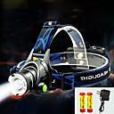 billiga Lys upp leksaker-TD286 Pannlampor Framljus till cykel Vattentät Zoombar 800 lm LED LED 1 utsläpps med batterier och laddare Vattentät Zoombar Uppladdningsbar Justerbar fokus Camping / Vandring / Grottkrypning Cykling