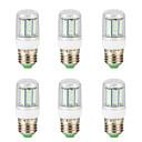 Χαμηλού Κόστους LED Φωτολωρίδες-6pcs 5 W LED Λάμπες Καλαμπόκι 300 lm E14 G9 GU10 T 36 LED χάντρες SMD 4014 Νεό Σχέδιο Θερμό Λευκό Άσπρο 220-240 V 110-130 V