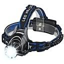 Χαμηλού Κόστους Αξεσουάρ μαλλιών-Φακοί Κεφαλιού LED LED Εκτοξευτές 3 τρόπος φωτισμού Φορητά Κατασκήνωση / Πεζοπορία / Εξερεύνηση Σπηλαίων Ψάρεμα Λευκό Χρώμα Πηγής Φωτός Μπλε / Μαύρο