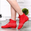 baratos Sapatos de Jazz-Mulheres Sapatos de Dança Lona Sapatos de Jazz Botas / Meia Solas Branco / Vermelho / Verde / EU43