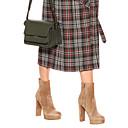 ราคาถูก รองเท้าบูตผู้หญิง-สำหรับผู้หญิง บูท ส้นหนา ที่ปิดนิ้วเท้า หนังนิ่ม รองเท้าบู้ทหุ้มข้อ อังกฤษ / minimalism ฤดูใบไม้ผลิ & ฤดูใบไม้ร่วง / ฤดูหนาว สีน้ำตาล / พรรคและเย็น