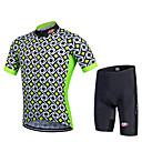 Χαμηλού Κόστους Σετ Μπλούζες & Σορτσάκια/Παντελόνια Ποδηλασίας-FUALRNY® Ανδρικά Κοντομάνικο Φανέλα και σορτς ποδηλασίας Πράσινο Πορτοκαλί Μπλε Καρό Ποδήλατο Ρούχα σύνολα Αναπνέει Ύγρανση Γρήγορο Στέγνωμα Ανατομικός Σχεδιασμός Αντανακλαστικές Λωρίδες Αθλητισμός