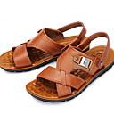 ราคาถูก รองเท้าแตะผู้ชาย-สำหรับผู้ชาย รองเท้าสบาย ๆ หนัง ฤดูร้อน รองเท้าแตะ ระบายอากาศ สีดำ / สีน้ำตาล / สีเหลือง