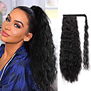 cheap Hair Pieces-Drawstring Ponytails / Synthetic Extentions Women / Extention / New Synthetic Hair Hair Piece Hair Extension Curly Medium Length Christmas / Halloween / Birthday