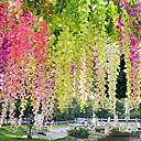 Χαμηλού Κόστους Ψεύτικα Λουλούδια & Βάζα-τεχνητό λουλούδι 12pc υποκατάστημα σύγχρονο σύγχρονο αιώνιο λουλούδι τοίχο λουλούδι προσομοίωση wisteria λουλούδι εργοστάσιο άμεση φασόλι λουλούδι τοίχο κρέμονται γαμήλιο αψίδα διακόσμηση λουλ