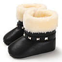 Χαμηλού Κόστους Παιδικές μπότες-Κοριτσίστικα Πρώτα Βήματα PU Μπότες Βρέφη (0-9m) / Νήπιο (9m-4ys) Ασημί / Φούξια / Ροζ Χειμώνας