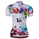 Χαμηλού Κόστους Τζάκετ Ποδηλασίας-21Grams Ουράνιο Τόξο Δετοβαμένο Γυναικεία Κοντομάνικο Φανέλα ποδηλασίας - Μπλε+Ροζ Ποδήλατο Αθλητική μπλούζα Μπολύζες Αναπνέει Ύγρανση Γρήγορο Στέγνωμα Αθλητισμός Τερυλίνη Ποδηλασία Βουνού Ρούχα