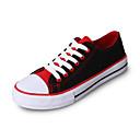זול סניקרס לנשים-בגדי ריקוד נשים נעלי ספורט שטוח בוהן עגולה קנבס יום יומי / פרפי סתיו / אביב קיץ שחור / אדום / כחול