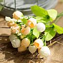 baratos Flores Artificiais & Vasos-Flores artificiais 1 Ramo Clássico buquês de Noiva Pastoril Estilo Rosas Flor de Mesa