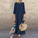 povoljno Tuš glave-Žene Swing kroj Haljina Color block Maxi