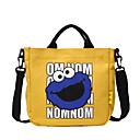 ราคาถูก กระเป๋าสะพายข้าง-สำหรับผู้หญิง ซิป ผ้าใบ กระเป๋าถือยอดนิยม สีทึบ สีดำ / ขาว / สีเหลือง