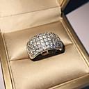 ราคาถูก แหวน-สำหรับผู้หญิง วงแหวน Cubic Zirconia 1pc สีเงิน S925 เงินสเตอร์ลิง โลหะผสม รูปร่างวงกลม คลาสสิก วินเทจ สง่างาม งานแต่งงาน การหมั้น เครื่องประดับ สไตล์วินเทจ Flower น่ารัก