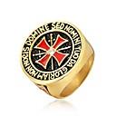 Χαμηλού Κόστους Ανδρικά Φορετά & Μοκασίνια-Ανδρικά Δαχτυλίδι 1pc Χρυσό Ασημί Τιτάνιο Ατσάλι Κυκλικό Βίντατζ Βασικό Μοντέρνα Καθημερινά Κοσμήματα Cruce Απίθανο