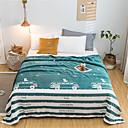 billige Tepper og pledd-Sengetepper, Blomstret / Trykt mønster polyester comfy tepper