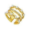 povoljno Modne ogrlice-Žene Prsten 1pc Zlato Biseri Umjetno drago kamenje Legura Luksuz Jedinstven dizajn Moda Angažman Dar Jewelry Cool Lijep