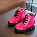 זול מגפיים לילדים-בנות מגפיי קרב PU מגפיים ילדים קטנים (4-7) שחור / אפרסק / ורוד סתיו / מגפונים\מגף קרסול