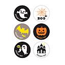 baratos Lâmpadas LED Redondas-60 pcs adesivos de papel de halloween decorações da festa festiva adesivo de vedação suprimentos de halloween 3.7 cm