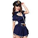billiga Karriär- och yrkeskostymer-Dam Polis Vuxna Sexiga Uniformer Cosplay Kostymer / Dräkter Topp Kjol Hatt / Spandex