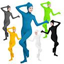 billiga Zentai-Zentai Dräkter Kattdräkt Huddräkt Ninja Cosplay Vuxna Lycra® Cosplay-kostymer Kön Dam Svart / Grön / Vit Ensfärgat / Hög Elasisitet