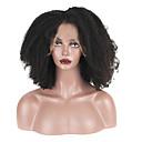 ราคาถูก วิกผมจริง-ผม Remy มีลูกไม้ด้านหน้า วิก ตอนกลาง สไตล์ ผมบราซิล Afro Kinky ดำ วิก 130% Hair Density สำหรับผู้หญิง Short วิกผมแท้ beikashang