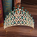 cheap Party Headpieces-Alloy Tiaras with Rhinestone 1 Piece Wedding / Special Occasion Headpiece