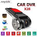 billige Bil-DVR-anytek x28 dash cam fhd 1080p bil dvr 150 grader vidvinkel bil dvr gps videoopptaker med wifi / mini / g-sensor / adas / loop-opptak / montion deteksjon