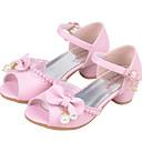 povoljno Male štikle za djevojčice-Djevojčice Udobne cipele Sintetika Cipele na petu Mala djeca (4-7s) Mašnica / Biser Obala / Pink Ljeto