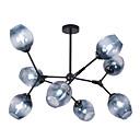baratos Fones de ouvido esportivos-LITBest 8-luz Circular Lustres Luz Ambiente Acabamentos Pintados Metal Vidro 110-120V / 220-240V Branco Quente / Branco