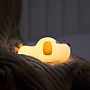 baratos Fantasias, Acessórios e Bijuterias-Brelong usb recarregável luz da noite filhote de cachorro de silicone lâmpada de brinquedo da criança lâmpada 30 / 60min com função do sono para o quarto