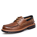 ราคาถูก Boat Shoes ผู้ชาย-สำหรับผู้ชาย รองเท้าอย่างเป็นทางการ แน๊บป้า Leather ฤดูใบไม้ผลิ / ฤดูใบไม้ร่วง & ฤดูหนาว วินเทจ / อังกฤษ รองเท้าสำหรับใส่ในเรือ วสำหรับเดิน ไม่ลื่นไถล สีดำ / สีน้ำตาล / งานแต่งงาน / พรรคและเย็น