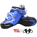 cheap Cycling Shoes-SIDEBIKE Adults' Cycling Shoes With Pedals & Cleats Road Bike Shoes Nylon Cushioning Cycling White / Black / Blue Men's Cycling Shoes / Synthetic Microfiber PU