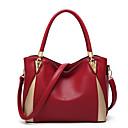 Χαμηλού Κόστους Ημέρα επιστροφής στο σπίτι-Γυναικεία PU Τσάντα χειρός Συνδυασμός Χρωμάτων Μαύρο / Κρασί / Ανθισμένο Ροζ / Φθινόπωρο & Χειμώνας