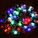 billige Negleklistremerker-12stk mini fargerike kule ballonglys ledede blitslamper papirlykt wick plast glød flash bryllupsfest dekorasjon
