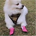 billiga Hundkläder-Husdjur Hund Skor och stövlar Hundstövlar och -skor Ledigt / vardag Enfärgad För husdjur Läder Svart / Sommar / Vinter