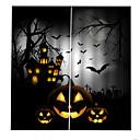 billige Graverte armbånd-personlighet originale gardiner for soverom / stue halloween horror tema blackout støvtette tilpassede gardiner
