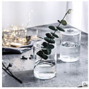 billige Stativer og holdere-1pc Rund Glass Moderne / Nutidig Bord Vase