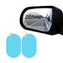 billige Automotive Kroppsdekorasjon og beskyttelse-2stk bilvindu beskyttende film anti-tåke vanntett anti-glare membran bil klistremerke oval 100 * 150mm