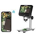 billige Øyenskygger-2,0 mmp multifunksjonelt trådløst 4,3 tommers skjerm digitalt mikroskop med 8 justerbare lysstyrker LED lys metall brakett
