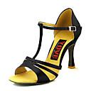 ราคาถูก รองเท้าแบบลาติน-สำหรับผู้หญิง รองเท้าเต้นรำ ซาติน ลาติน หัวเข็มขัด ส้น ส้นป้าน ตัดเฉพาะได้ แดง / บรอนซ์ / Nude / Performance / หนังสัตว์ / ฝึก
