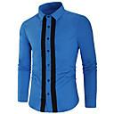 ราคาถูก เสื้อเชิ้ตผู้ชาย-สำหรับผู้ชาย เชิร์ต สง่างาม ลายบล็อคสี สีดำ