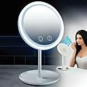 Χαμηλού Κόστους Καθρέφτες-5x μεγεθυντικός φακός οδήγησε καθρέφτη φως επιφάνεια καθρέφτη ομορφιά αεράκι με γυναίκες ανεμιστήρα